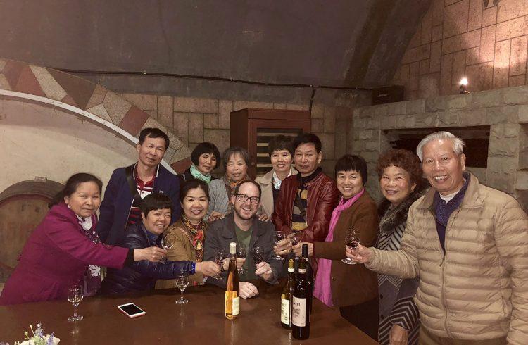 Changyu Wine tasters