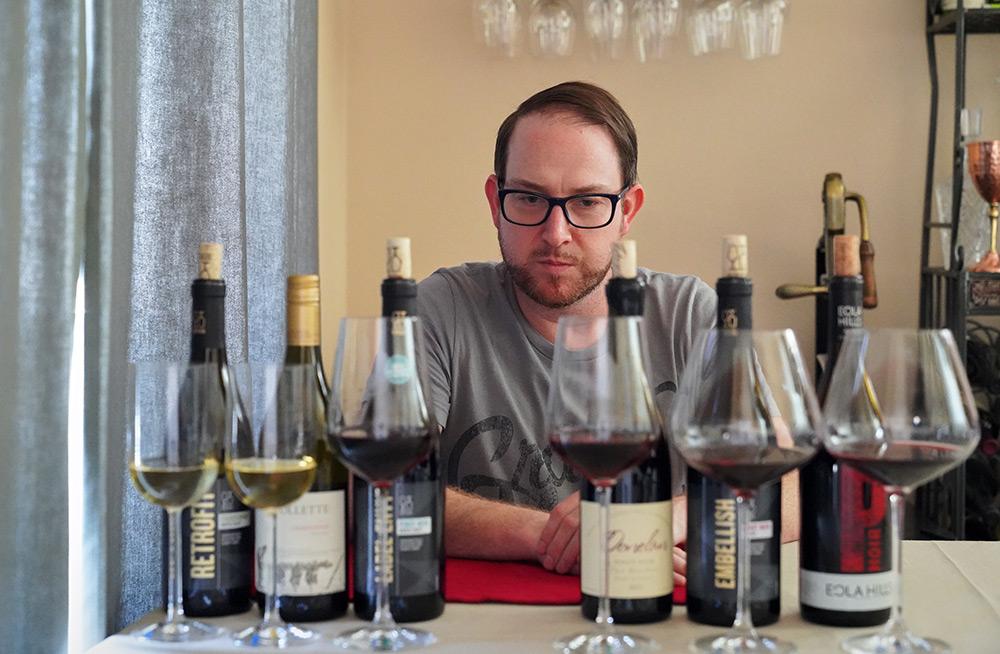 Ryan Vinson Blind Taste Tests Wines