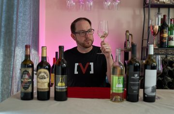 Ryan tasting Los Angeles wines