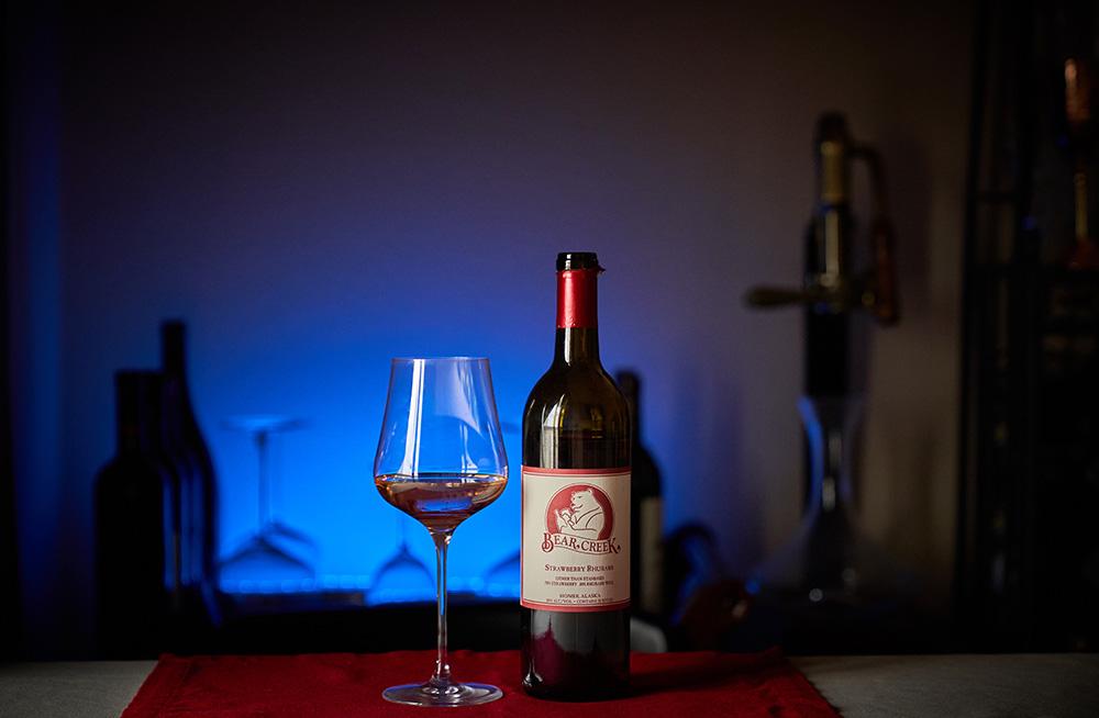 Strawberry Rhubarb wine Bear Creek Winery