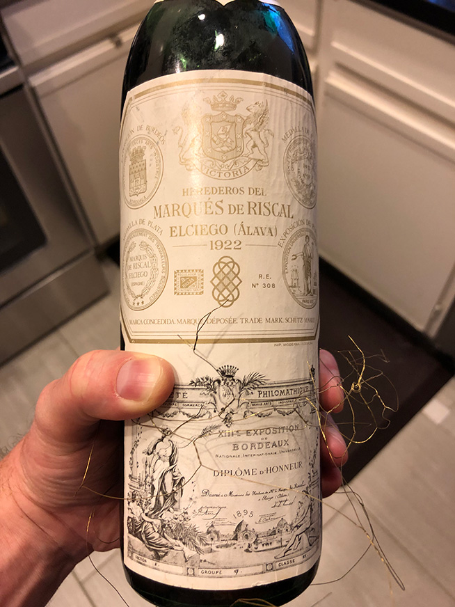1922 Marques de Riscal Rioja