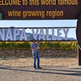 Myself and toddler at Napa Valley sign