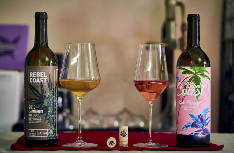 Rebel Coast Winery Cannabis infused wines